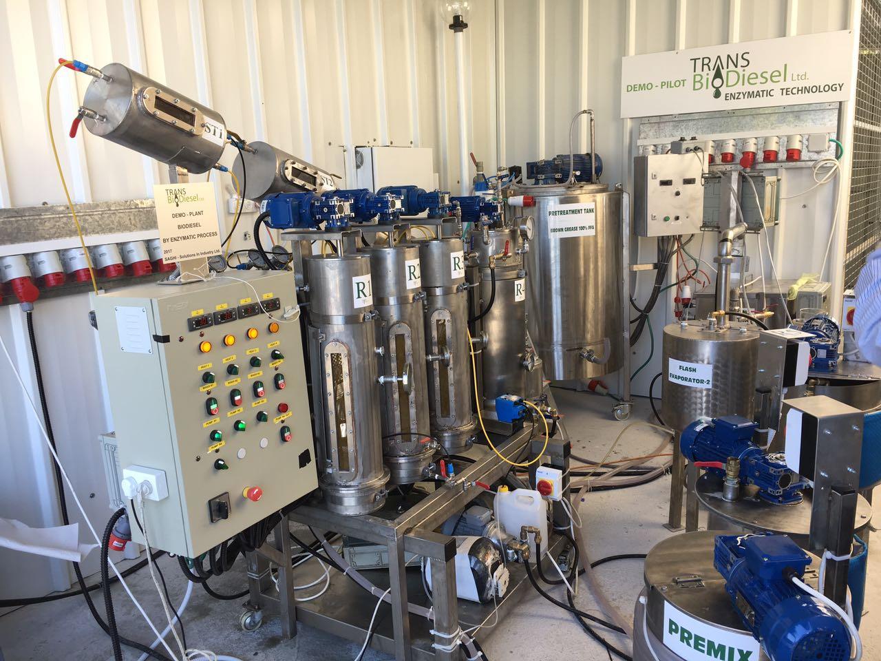 Transbiodiesel plant in Israel
